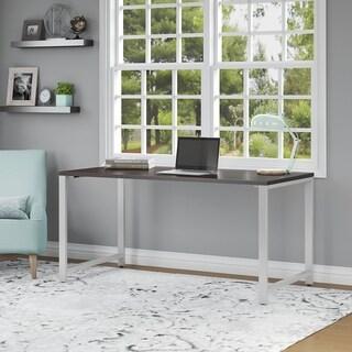 Bush Business Furniture 400 Series 60W Table Desk in Mocha Cherry