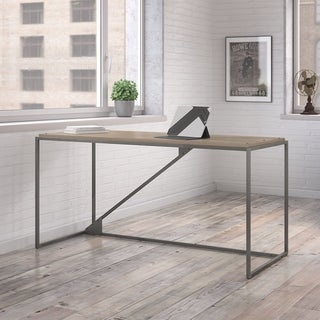 Refinery 62W Industrial Desk in Rustic Gray