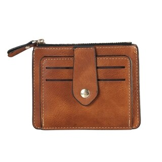 Diophy PU Leather Small Coin Pouch Card Holder Wallet (Option: Pink)