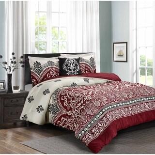 PURE COMFORT Luxury Brushed Spa Grade Microfiber 4 Pieces Comforter Set