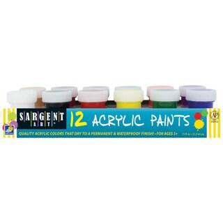 Acrylic Paint Set 12/Pkg-