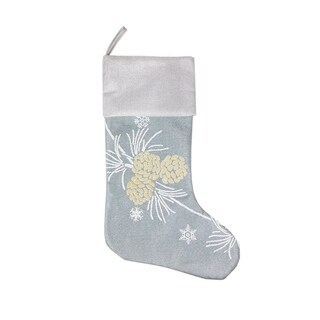 Winter Pine Cone Christmas Stocking, 20-Inch