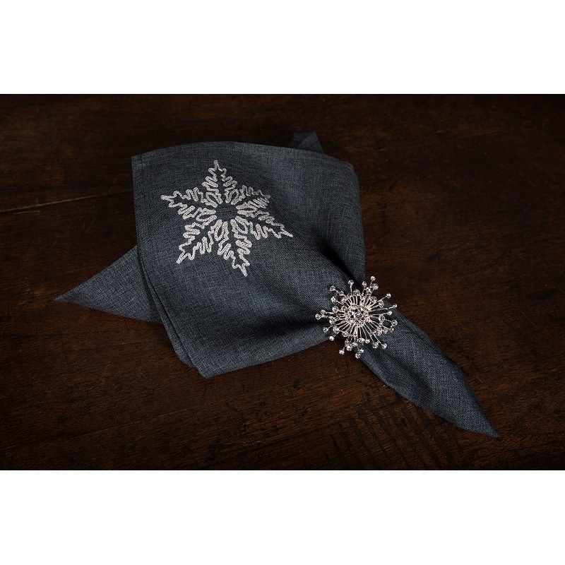 Glisten Snowflake Embroidered Christmas Napkins ceb07e285
