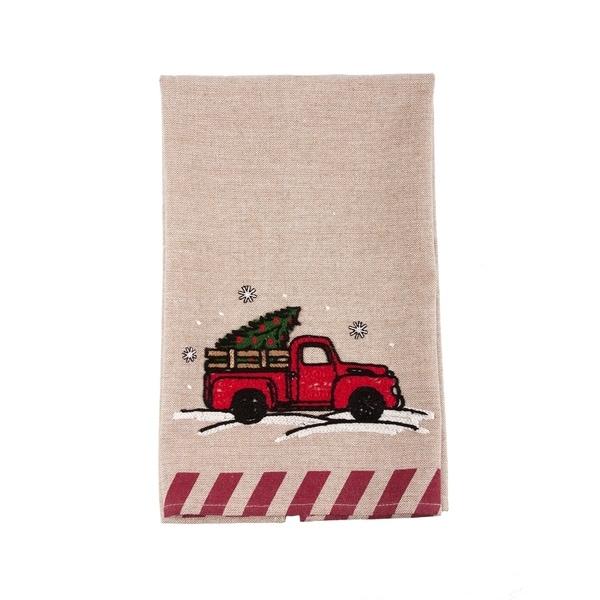 Christmas Truck Christmas Tea Towel, 17 by 27-Inch