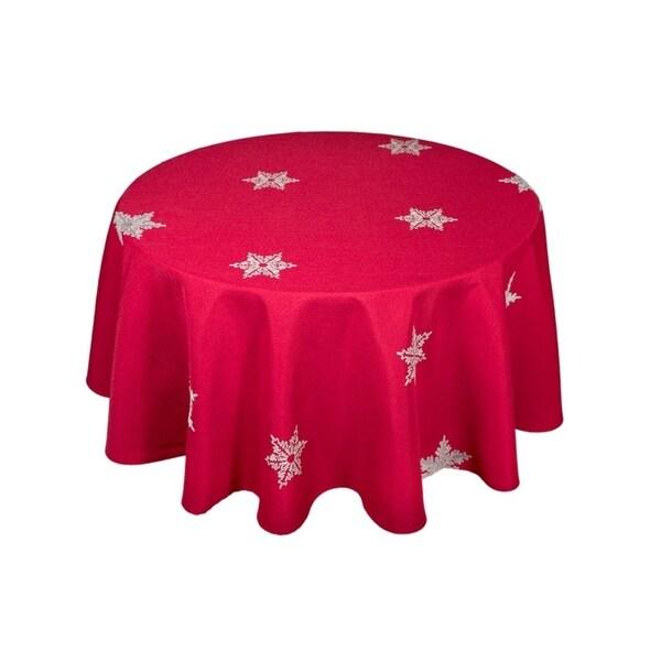 Shop Glisten Snowflake Embroidered Christmas Round