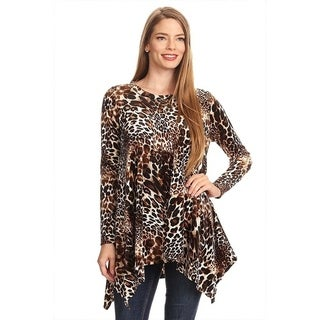 Women's Leopard Animal Pattern Tunic
