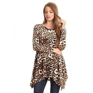 Women's Leopard Animal Pattern Tunic