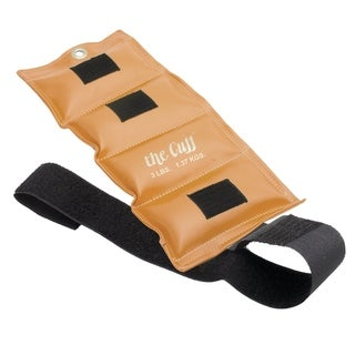 The Cuff® Deluxe Ankle and Wrist Weight - 3 lb - Gold