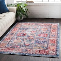 Classic Vintage Oriental Red Area Rug - 3'11 x 5'11