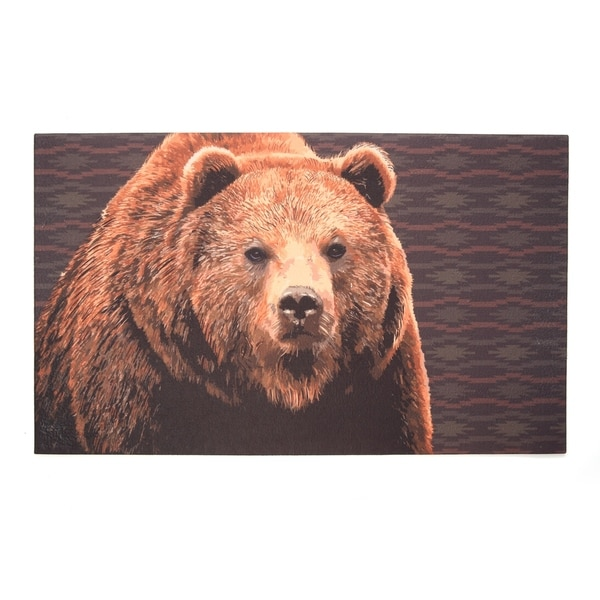 """Recycled Rubber Door Mat, 18"""" x 30"""", Life Without Camping Is Unbearable"""