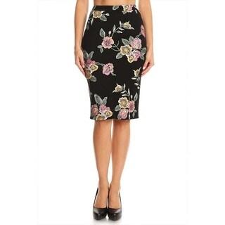 Women's Floral Pattern Pencil Skirt