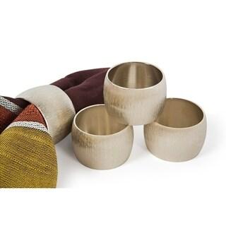 Silver Metal Napkin Rings,Set of 4