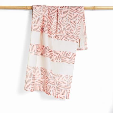 Handmade Leni Organic Cotton Hand Block Printed Kitchen Towel (India)