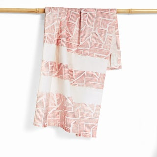 Handmade Leni Organic Cotton Hand Block Printed Kitchen Towel (India)