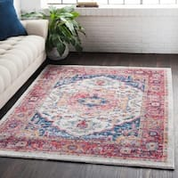 """Classic Vintage Oriental Light Red Area Rug - 5'3"""" x 7'3"""""""