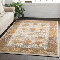 Traditional Persian Burnt Orange Area Rug (5'3 x 7'6)