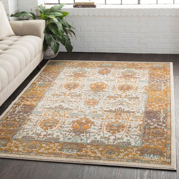 "Traditional Persian Burnt Orange Area Rug - 5'3"" x 7'6"""