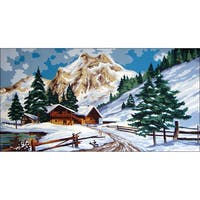"Needleart World Needlepoint Printed Canvas 16""X24""-Winter Time"