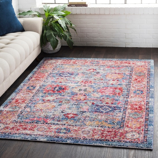 Classic Vintage Oriental Red Area Rug - 9' x 13'