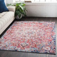 Classic Vintage Medallion Red Area Rug - 7'10 x 10'3