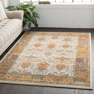 "Traditional Persian Burnt Orange Area Rug - 7'10"" x 10'3"""