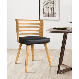 Metro Multicolor Faux-leather/Wood Dininig Chair