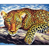 "Needleart World Needlepoint Printed Canvas 12""X16""-Leopard"