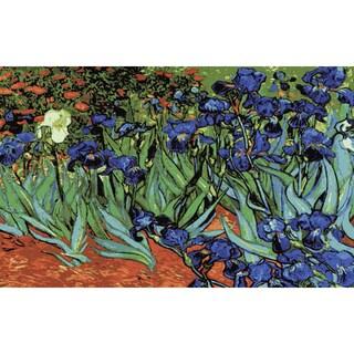 "Needleart World Needlepoint Printed Canvas 24""X35""-Irises (Van Gogh)"
