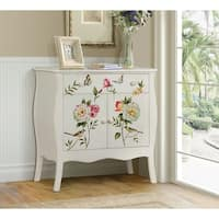 Floral Gardens Hand Painted Cabinet