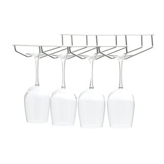 Mind Reader 'Rail' 4 Row Chrome Stemware Holder
