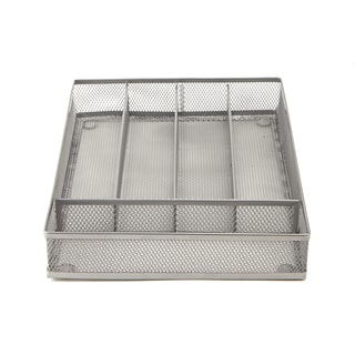 Mind Reader 5 Section Cutlery Tray Drawer Organizer (2 Pack)