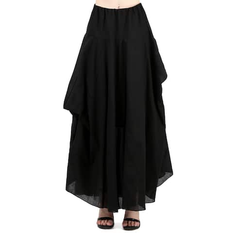 Evanese Women A Line Full Maxi Long Adjustable Pick Up Bubble Skirt