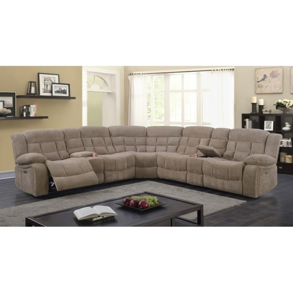 Best Quality Furniture 3 Piece Velvet Power Recliner Sectional