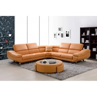 Best Quality Furniture 3-piece Bonded Leather Sectional