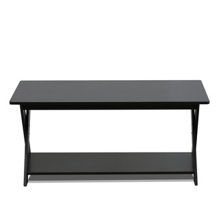 Porch & Den Wilmot Epresso Simplistic Criss-crossed Coffee Table