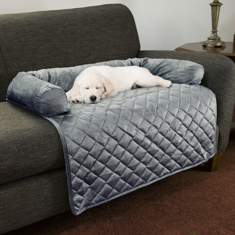 PETMAKER Furniture Protector with Shredded Memory Foam Bolster Pet Cover
