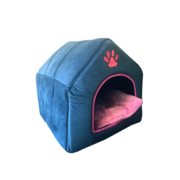 Purrrfect Life Plush Pet Bed House With Self Warming Heating Pad