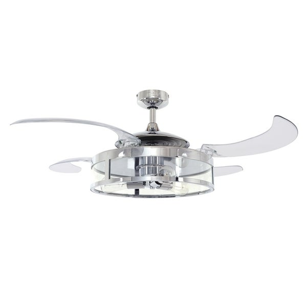 48 In. Polished Nickel Ceiling Fan with Remote Control. Opens flyout.
