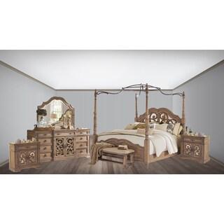 Westchester 5PC Canopy Poster Bedroom Set With 2-Door Nightstand