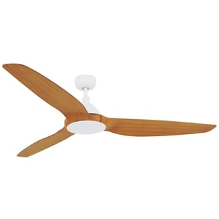 60 In. White Ceiling Fan with Remote Control