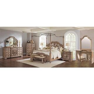 Westchester 10PC Canopy Poster Bedroom Set With 2-Door Nightstand