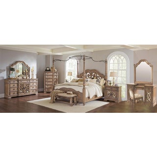 Westchester 10PC Canopy Poster Bedroom Set With 2-Door Nightstand