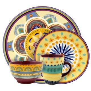 Elama Puesta De Sol 16 Piece Service for 4 Stoneware Dinnerware Set