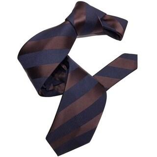 Dmitry Men's Navy/Striped Italian Silk Tie