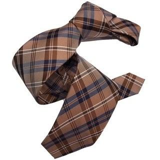 Dmitry Men's Brown Patterned Italian Silk Tie