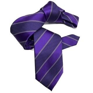 Dmitry Men's Purple Striped Italian Silk Tie