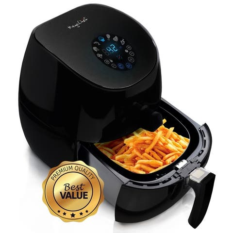 3.5 Quarts Airfryer And Multicooker With 7 Pre-programmed Settings, Black