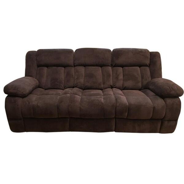 Shop Strasburg Microfiber Brown Sofa On Sale Free