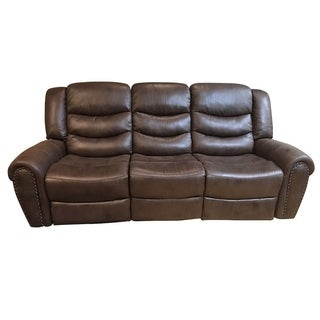 Lamoure Brown Fabric Sofa Recliner