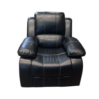 Manning Faux Leather Black Glider Recliner